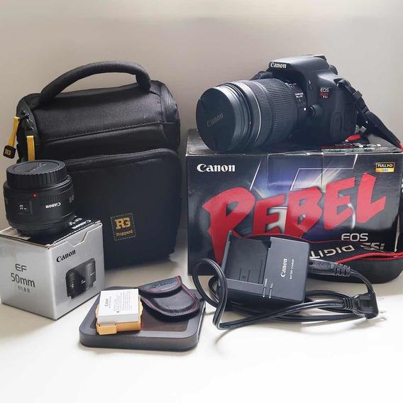 Canon T5i 18-135 Mm Stm E 50mm + Acessórios