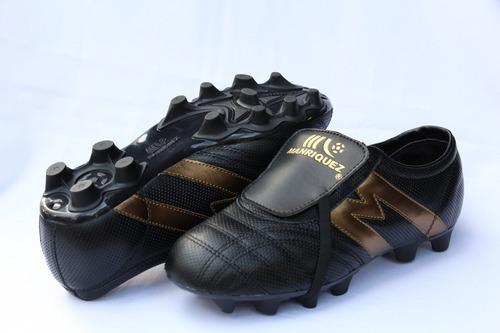 2266-zapato Fútbol Manriquez Profesional Mid Sx Ngo/oro