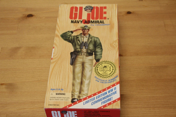 Falcon Gijoe Comandos Ação Wwii 50th Aniversary Navy Admiral