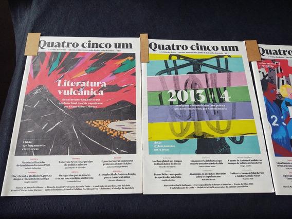 Lote Com 05 Revistas Quatro Cinco Um A Revista Dos Livros