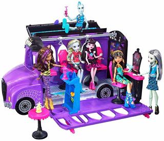 Monster High Deluxe School Bus Spa Muñecas Juguetes Niñas