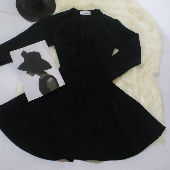 Vestido De Veludo Texturizado