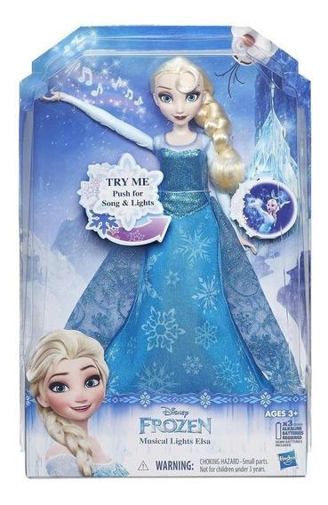 Boneca Cantora Elsa Frozen Original Disney Hasbro B6173