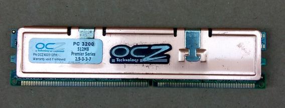 Memoria Ddr 512mb 400 / Pc3200 - Ocz, Con Disipador