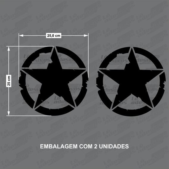 Adesivo Decorativo Estrela Militar/exercito/jeep/25x25cm 2un