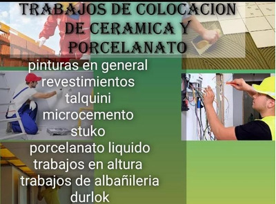 Colocador De Ceramicas Y Porcelanatos Y Refacciones