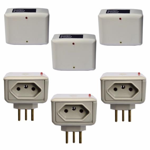Kit 3un Protetores Raios Para Geladeira + 3un Para Eletro Tv