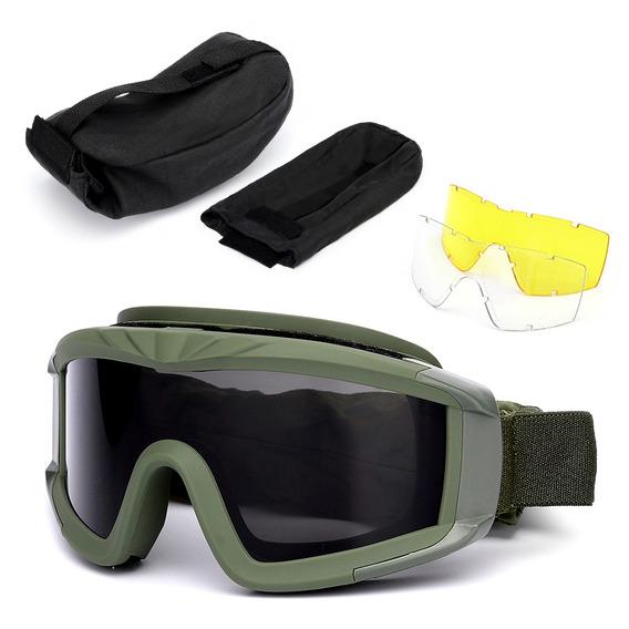 Óculos De Proteção Ao Ar Livre Militar Uv400 Óculos De