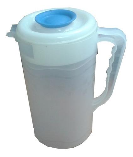 Jarra De Plástico Cilíndrica 2 Litros 2 Unidades
