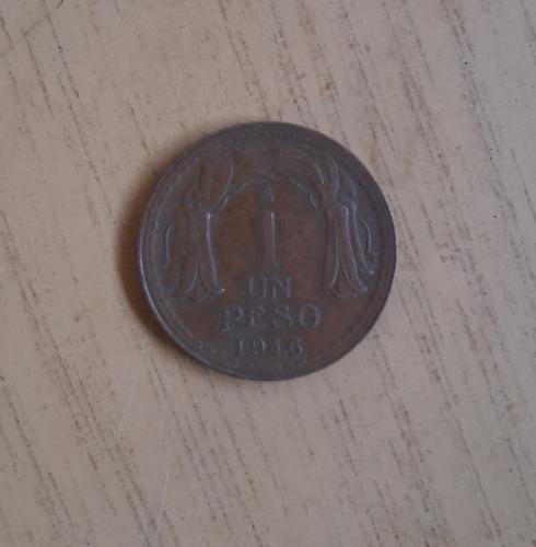 Moneda De Un Peso Año 1946