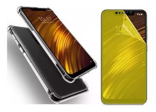 Capa Antishock + Pelicula Gel Para Xiaomi Pocophone F1