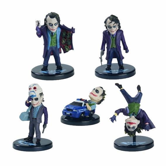 Kit 5 Boneco Chaveiro Coringa Joker Dark Knight Heath Ledger