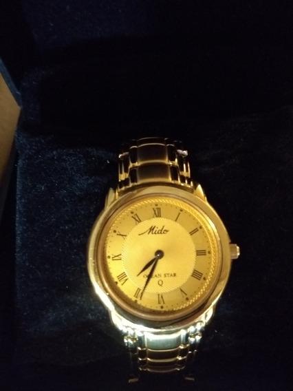 Relógio Mido Ocean Star Aquadura 18k Plaquê, Impecável,lindo