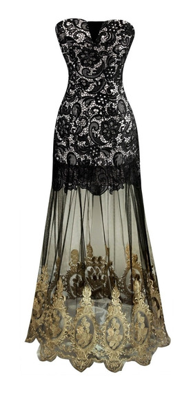 Vestido Longo Renda Luxo Importado Pronta Entrega No Brasil