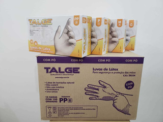 Luva Procedimento Em Látex Talge - Cx C/10 Frete Grátis