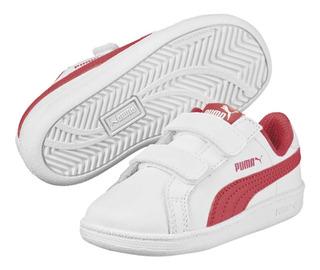 Tenis Puma Smash Fun L V Ps Blanco/rosa Junior