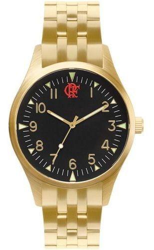 Relógio Masculino Technos Flamengo Dourado Fla2035mnn/4d