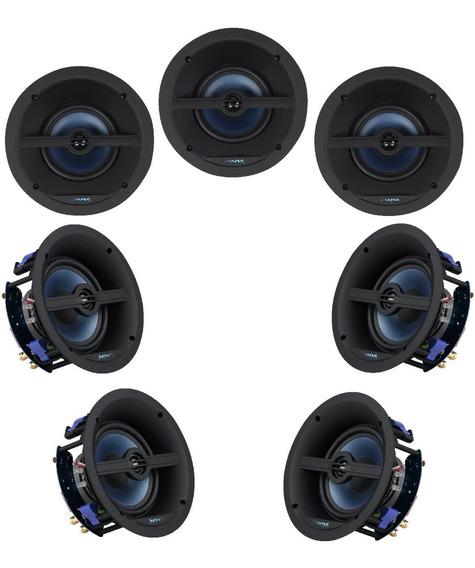 Kit Home Theater 7.0 Caixas De Embutir No Gesso Wave Sound