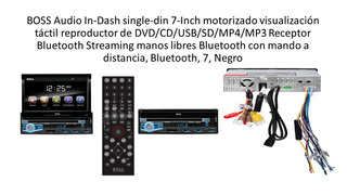 Boss Audio Bv9976b In-dash Single-din 7-inch Motorized Touch