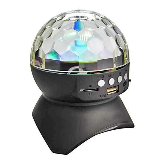 Caixa De Som Bola Maluca Led Rgb Com Bluetooth Fm Mp3