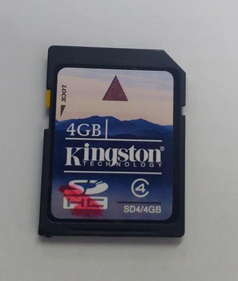 Cartão Memória Kingston - 4 Gb Sdhc | Sd4/4gbsdhc - Original