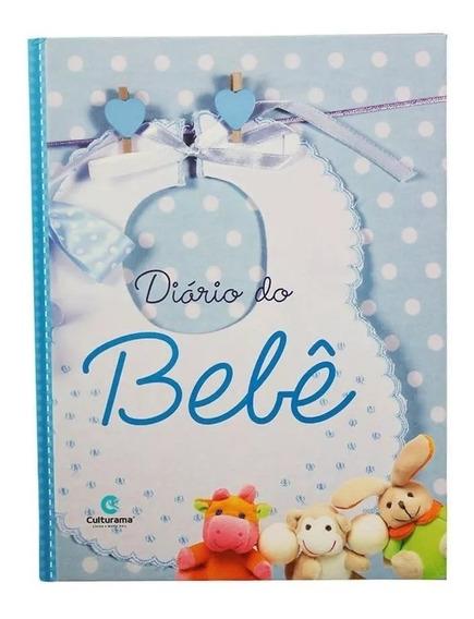 Diário Livro Bebê Anotações Álbum Gestação Menino Azul