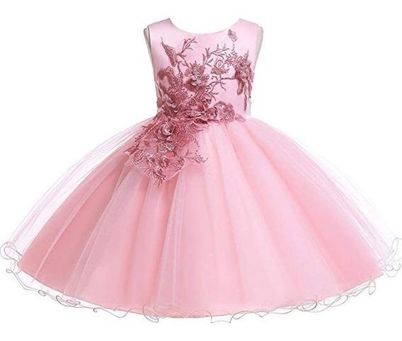 Vestido Xv Boda Fiesta Cumpleaños Lzh Bebe Formal Rosado