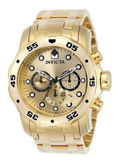 Reloj Invicta Pro Diver Para Hombres 48mm Con Oro Y Zafiro