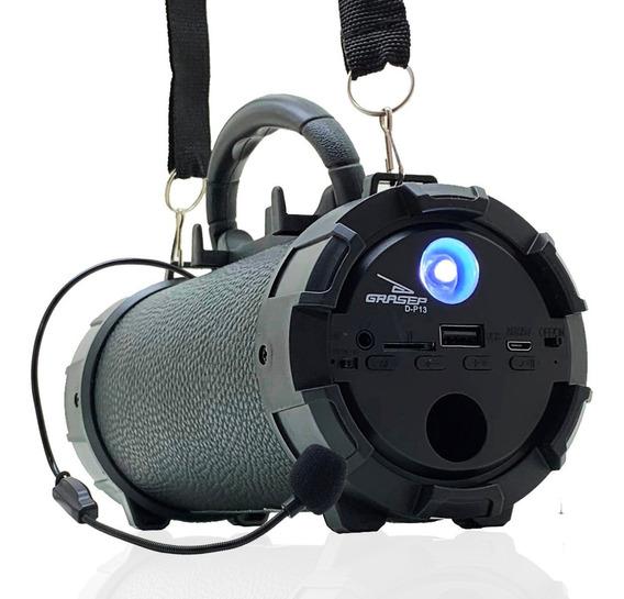 Caixinha Som Amplificada Portátil Usb Mp3 Micro Sd Rádio Fm