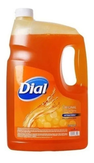 Jabón Líquido Dial Para Manos Original Antibacterial 3.78l