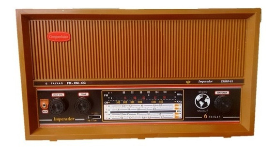 Radio Gabinete Madeira Ondas Curtas Fm E Am Entrada Auxiliar