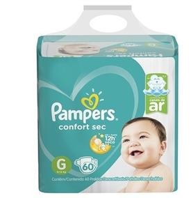 Fralda Pampers Confort Sec Super Tamanho G 60 Tiras