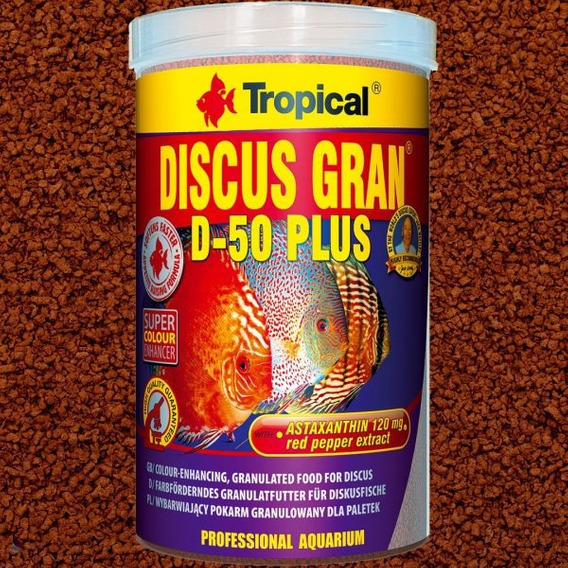 Ração Tropical Discus Gran D-50 Plus 220g Ideal Para Discos Vermelhos Com Astaxantina