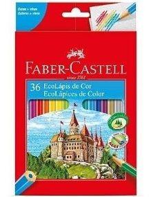 Lápis De Cor 36 Cores Faber Castell Ecolápis
