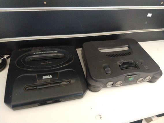 Nintendo 64 E Mega Drive 3 No Estado