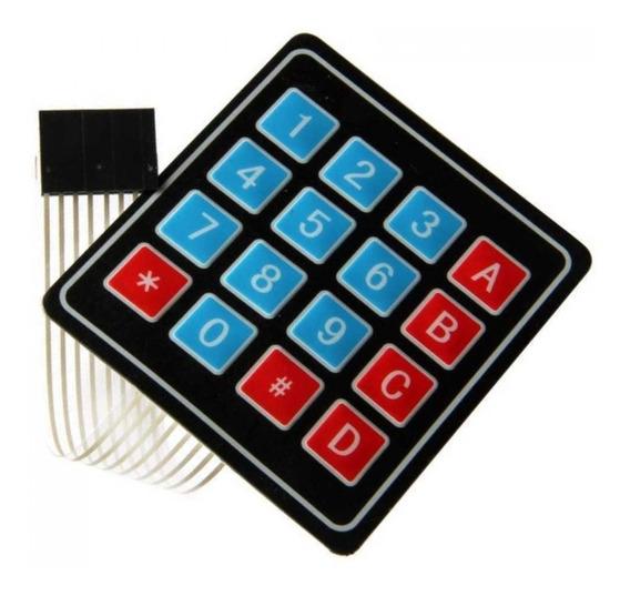 Teclado Matricial Membrana 4x4 Para Arduino Pic Mv Electroni