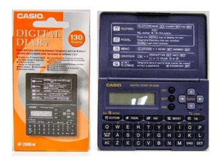 Agenda Digital Casio Original Ref: Sf -2000-w 130 Memorias