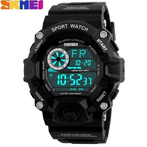 Relógio Skmei Digital, De Borracha/liga Uso Militar/esporte