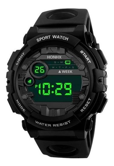 Reloj Digital Deportivo Honhx Alarma Luz Fecha Cronometro Hd