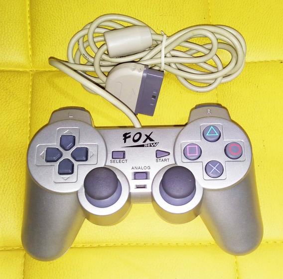 Controle De Playstation 1 Ps1 E Ps2 + Jogo De Brinde