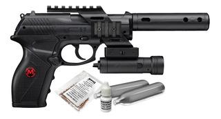 Kit Pistola Co2 Tacc11kit2 Con Mira Isr Calibre 4.5 Mendoza