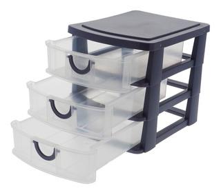Caja De Organizador De 3 Cajones Plásticos Dy