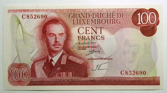 Luxemburgo Billete 100 Francos Año 1970 Pick 56 Unc