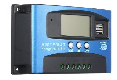 30a Mppt Controlador De Carga Solar Dual Usb Lcd Display Aut