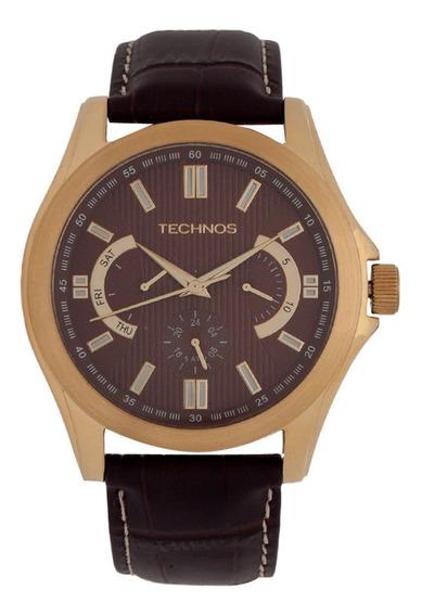Relógio Pulso Technos Classic Grandtech Couro -6p29aig2m