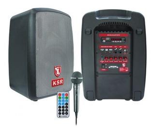 Bocina Portátil Recargable 8 Pulgadas Bluetooth Fm Usb Micro