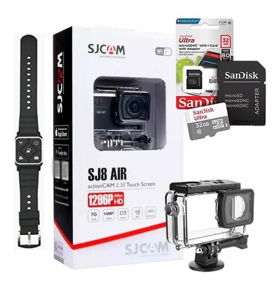 Câmera Esportiva Sjcam Sj8 Air + Controle Remoto + 32gb