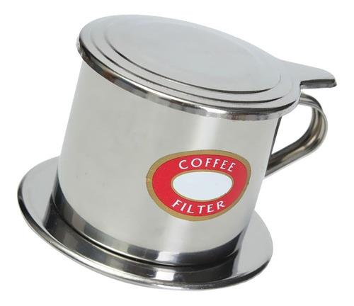 Imagen 1 de 6 de Infusor Filtro De Café Vietnamita De Acero Inoxidable 50ml
