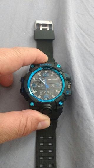 Relógio Azul Digital Esportivo Zerado Lindo