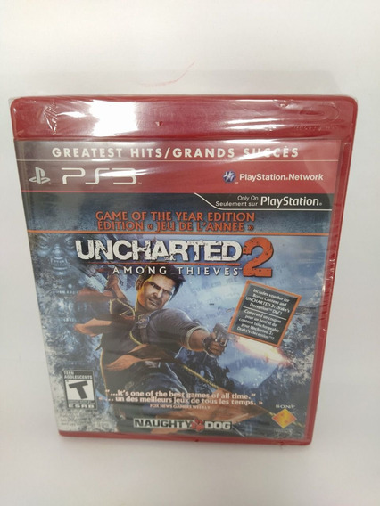 Jogo Ps3 Uncharted 2 Among Thives Mídia Física Novo, Lacrado